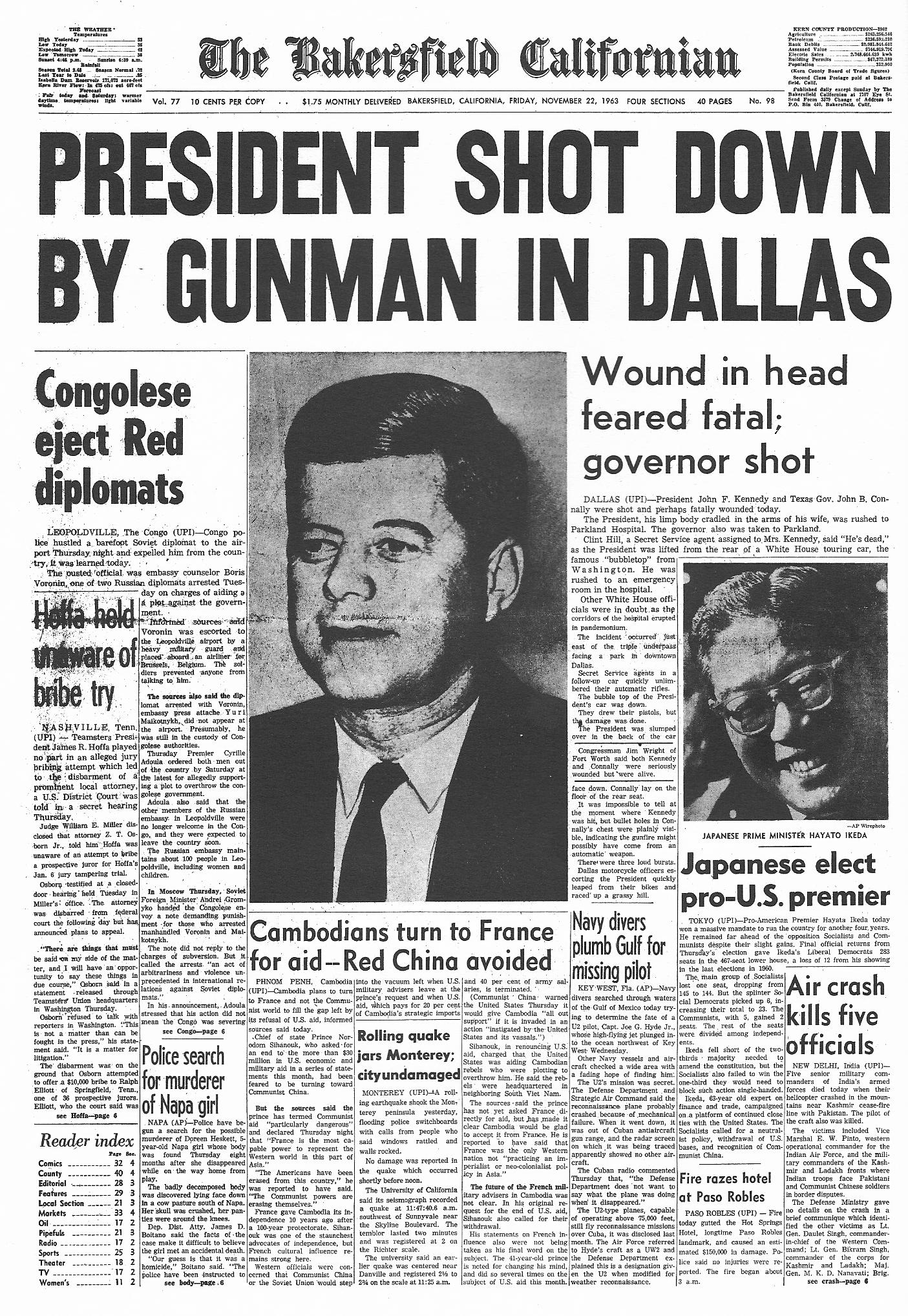 an analysis of the death of president john f kennedy Fifty years ago, on nov 22, 1963, president john f kennedy was assassinated  in dallas, texas the news sent shockwaves across the nation and around the.